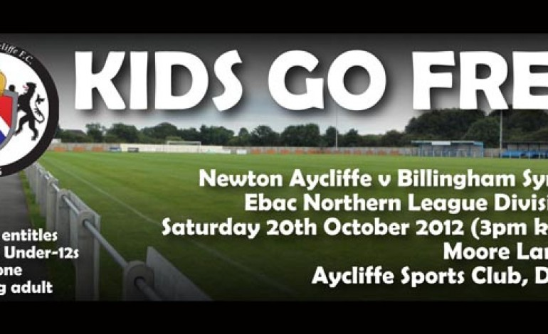 Kids go FREE at Aycliffe FC!