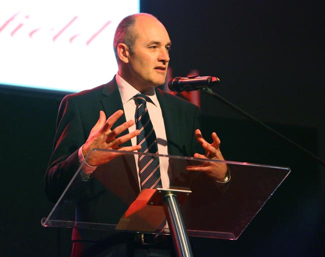 Hitachi chief Alistair Dormer, Sedgefield 30 Dinner (Pic courtesy of Keith Taylor)