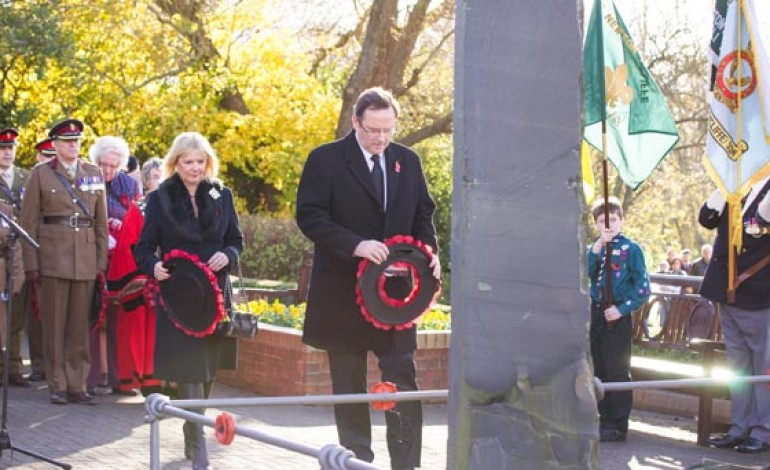 HUNDREDS REMEMBER THE FALLEN IN AYCLIFFE