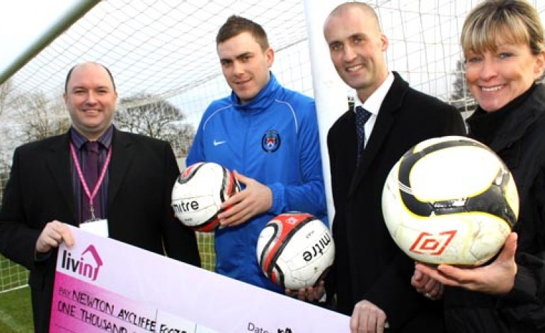 LIVIN DONATE CASH TO FOOTBALL CLUB