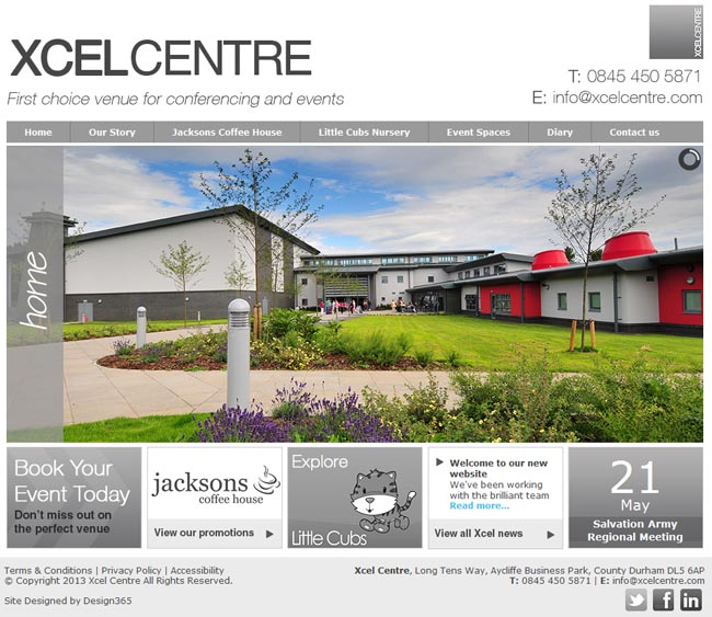 Xcel Centre website
