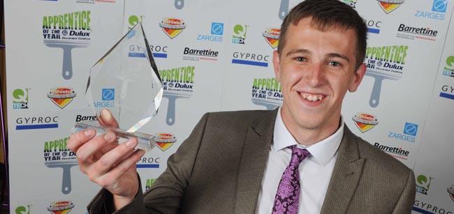 Kristian with award
