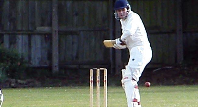Adam Gittins batting