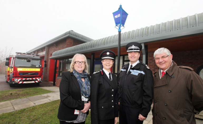 POLICE MOVE INTO FIRE STATION