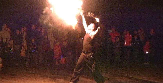fire breather at vane road school 1
