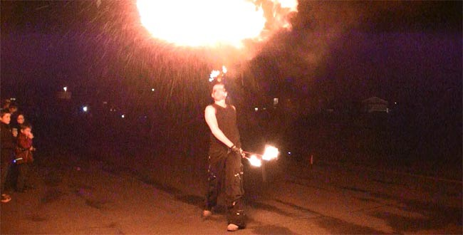 fire breather at vane road school 2