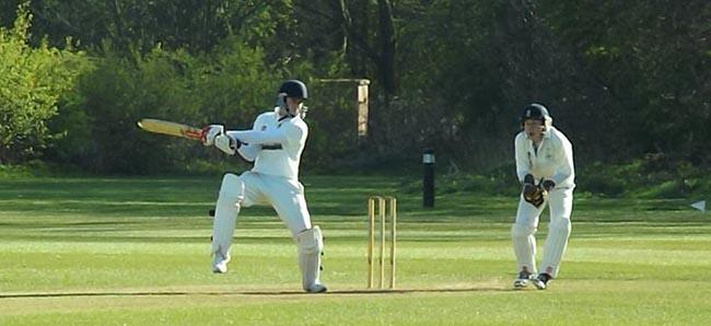 Dan batting v Bedale