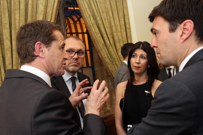 colin and julie cooper chat to andy burnham
