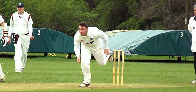 Matty Atkinson bowling