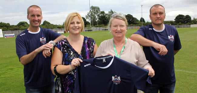 newton aycliffe fc partnership with aycliffe cancer support group
