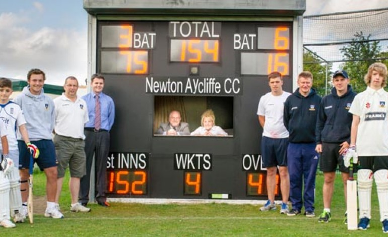 CRICKET CLUB REVEAL NEW ELECTRONIC SCOREBOARD