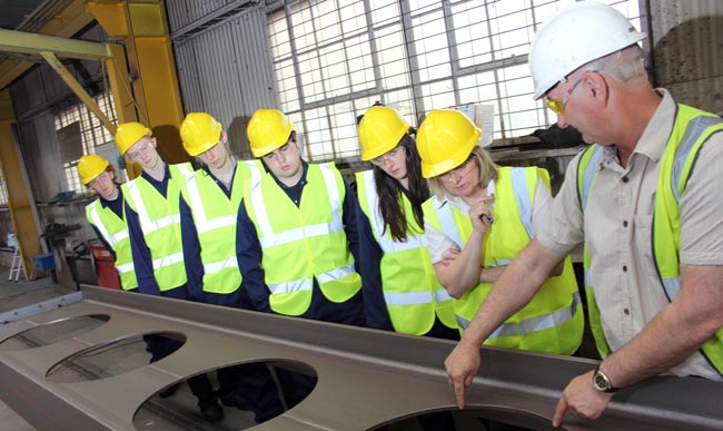 SWDT Durham Uni students visit Finley Structures 1