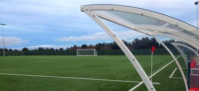 Consett AFC's new 3G football pitch at Delves Lane in Consett.