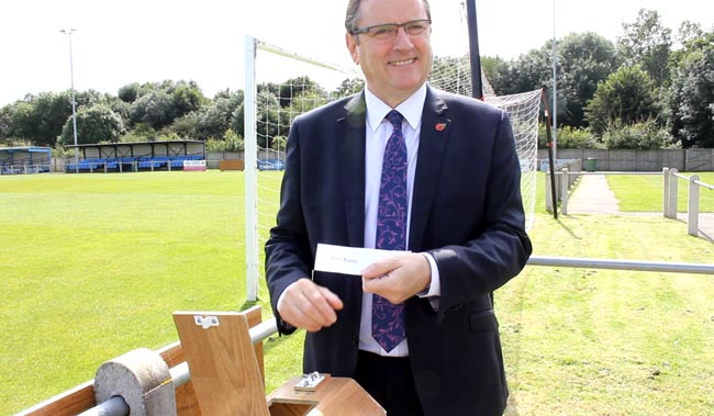 phil wilson newton aycliffe fc stadium naming rights draw