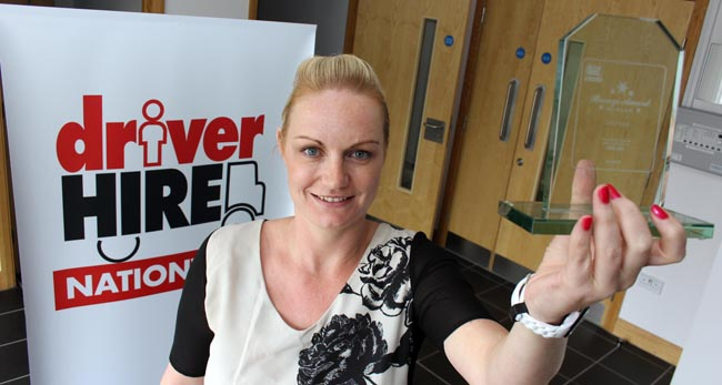 lisa driver hire darlington award sept 2014