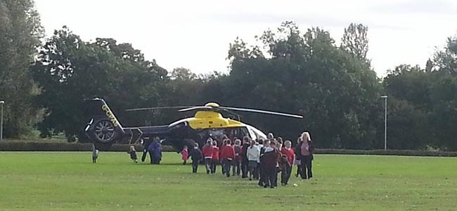 police helicopter at st joseph's school