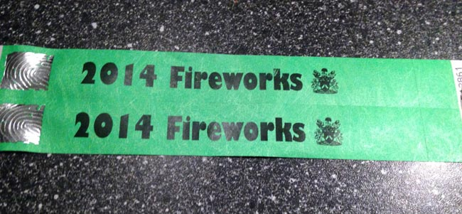 aycliffe fireworks wristbands