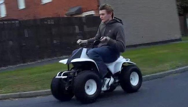 police hunt dangerous quadbike rider