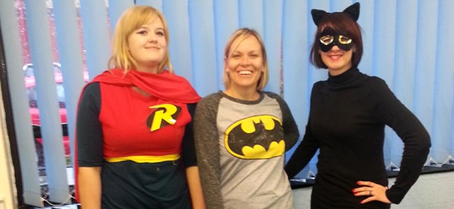 Children in need super heroes