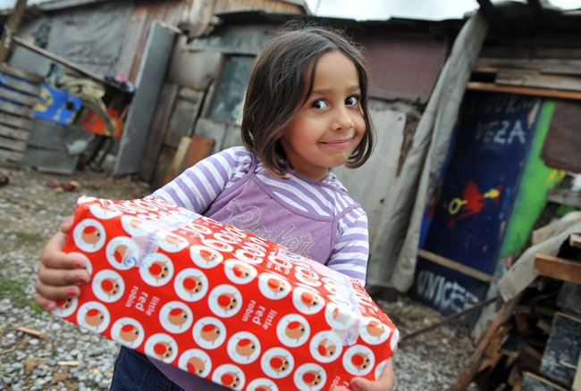 Regus supports Christmas Shoebox Appeal