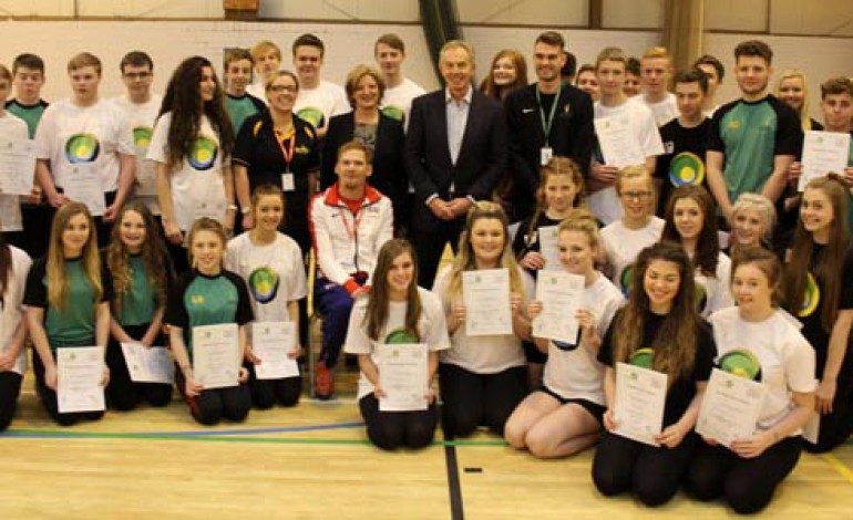 TONY BLAIR VISITS WOODHAM ACADEMY – PICTURES