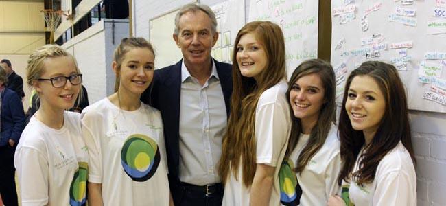 Tony Blair visits Woodham Academy Nov 2014