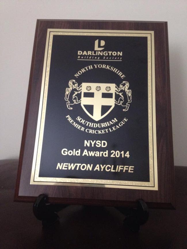 aycliffe cricket award