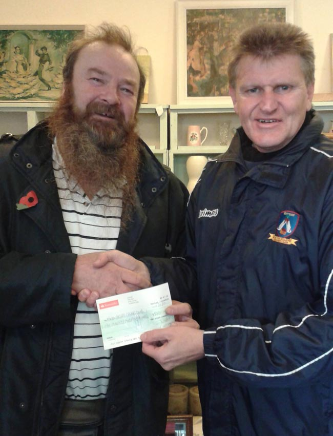 honest john donation to aycliffe cricket club