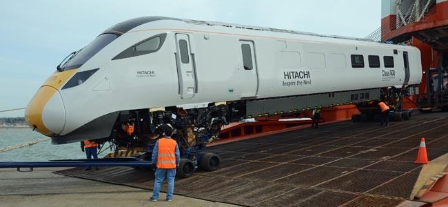 Class 800 arrival Southampton 4