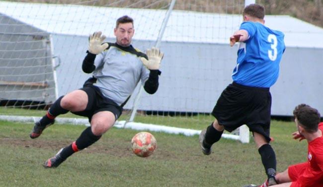Darren Bosomworth firing home to equalise