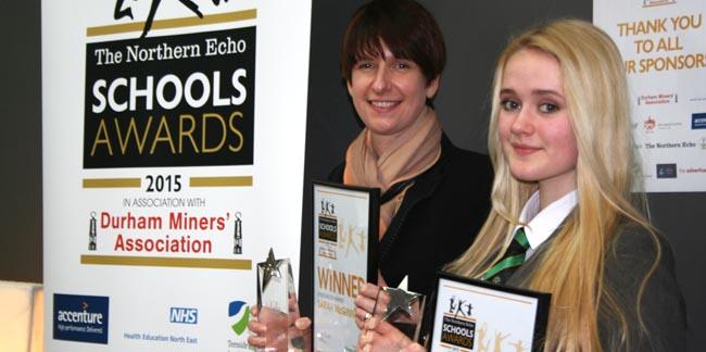 Woodham Academy Northern Echo Awards 2015