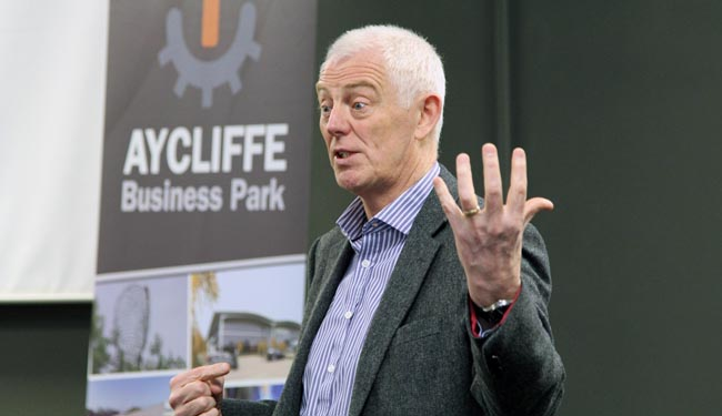 david land talking at aycliffe business park event april 2015 1