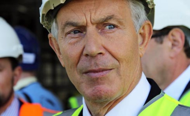 BUSINESSES COMING TO AYCLIFFE NEED EUROPE, SAYS TONY BLAIR