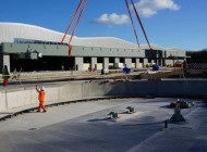 80-tonne turntable installed at Hitachi site