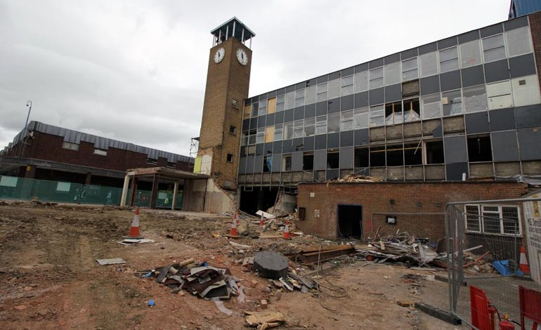 Churchill House demolition finally re-starts