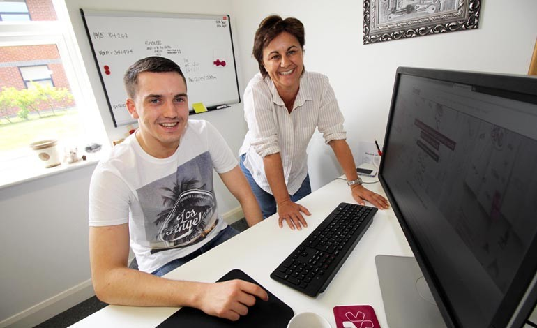 Aycliffe marketing firm is nurturing future talent