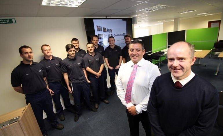 Gestamp Tallent Apprentices get their contracts in staff presentation
