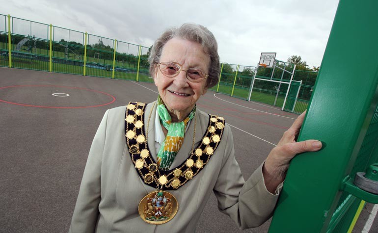 Moore Lane Park MUGA opening Mayor Mary Dalton