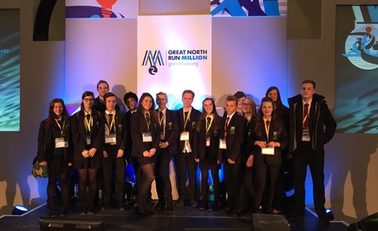 Aycliffe students talk at Great North Greats Conference