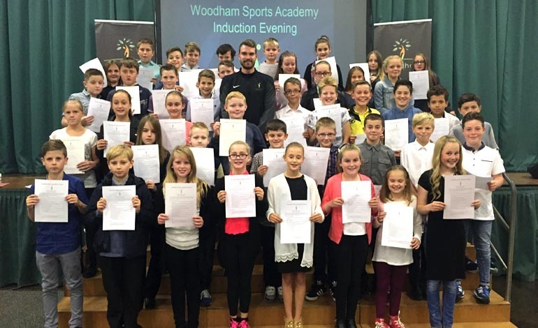 Students inducted into school's Sports Academy