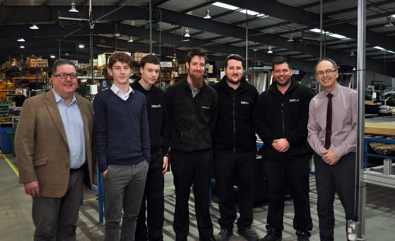 Aycliffe firm Roman takes on three new apprentices