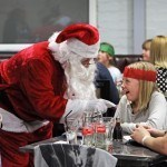 Santa hands out presents at Rof 59 in Newton Aycliffe.  Picture by Stuart Boulton.