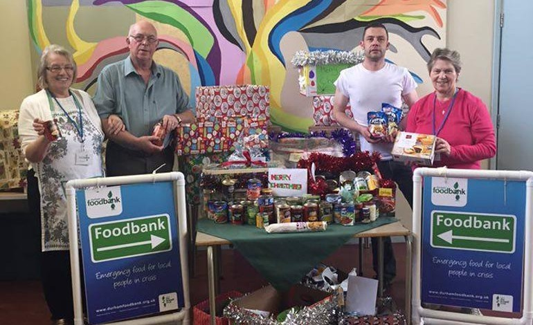 Aycliffe students donate hampers to elderly