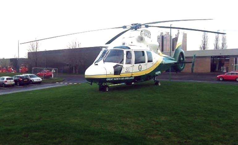 Man air-lifted to hospital after heart attack