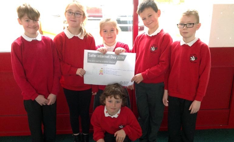 Aycliffe children celebrate Safer Internet Day