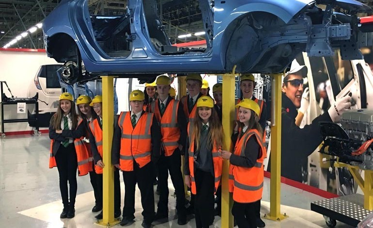 Woodham students get valuable engineering insight at Nissan