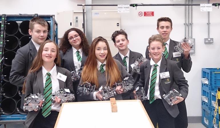 Woodham students at Nissan 2