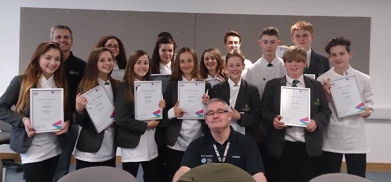 woodham students at Nissan 1