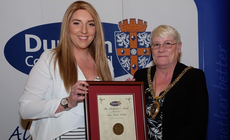 Inspirational Anna receives County Durham's top award