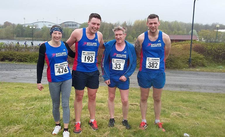 Aycliffe runners in Tees Barrage 10k